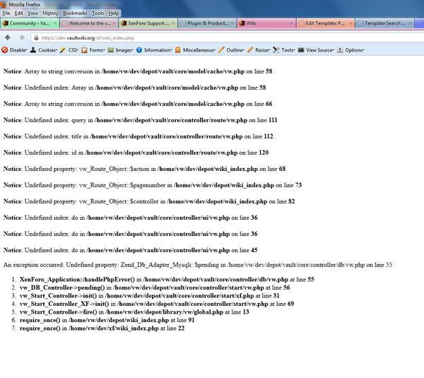 Random VaultWiki Screens