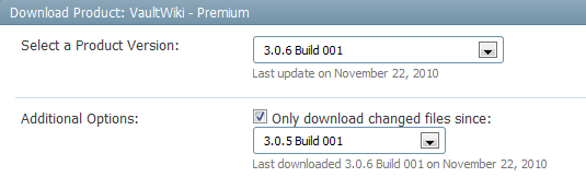 Only download the files that have changed since the last version of VaultWiki.