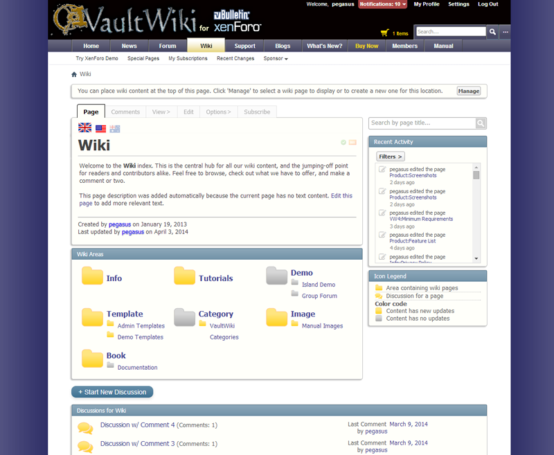 The wiki index is an editable starting point for all your wiki content.
